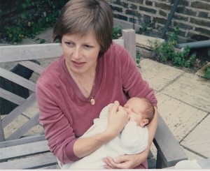 Me and my mum when I was just a few weeks old.